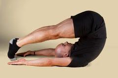 Pilates Position - Jack Knife. On a light background Stock Photos