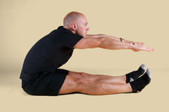 Pilates Position - Roll Up. On a light background Stock Images
