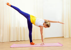 Pilates position Stock Images