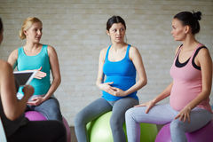 Pilates for the pregnant royalty free stock photography