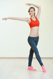 Pilates que estica exercícios da aptidão Imagens de Stock Royalty Free