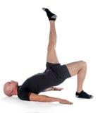 Pilates - Shoulder Bridge Royalty Free Stock Images