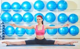 Pilates stretching exercises Stock Photo