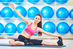 Pilates stretching exercises Stock Image