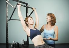 Pilates with a Trainer Stock Photo
