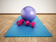 Pilates training Stock Photo