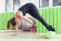 Pilates twist Royalty Free Stock Image