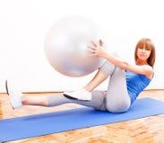 Pilates utbildning Royaltyfria Bilder