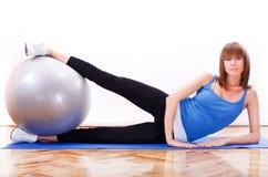Pilates utbildning Arkivfoton