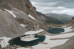 Pilato lake (lago di Pilato) on Vettore mountain Stock Image