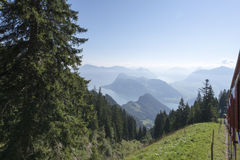 Pilatus铁路,瑞士 免版税图库摄影
