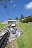 Pilatus铁路,瑞士 图库摄影