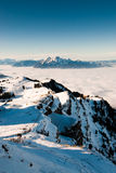 Pilatus above clouds Stock Images