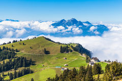 Pilatus above the clound Stock Photography