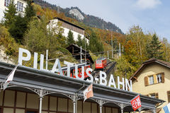 Pilatus Bahn / Mount Pilatus Station Royalty Free Stock Photos