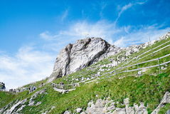 Pilatus Kulm. Mountain in Swiss alps near Luzern Stock Photography