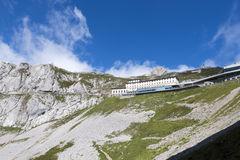 Pilatus Kulm station near the summit of Mount Pilatus royalty free stock photo