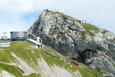 Pilatus Kulm station near the summit of Mount Pilatus Royalty Free Stock Photography