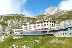Pilatus Kulm station near the summit of Mount Pilatus Stock Photo