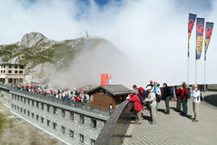 Pilatus Kulm station near the summit of Mount Pilatus Stock Images