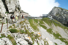 Pilatus Kulm station near the summit of Mount Pilatus Royalty Free Stock Image