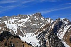 Pilatus mountain top Switzerland Swiss Alps mountains aerial vie Royalty Free Stock Image