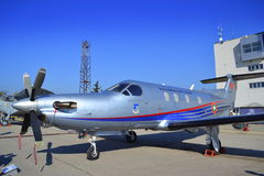 Pilatus PC-12/45 aircraft Royalty Free Stock Images