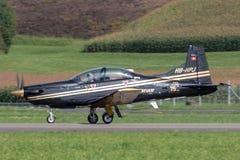 Pilatus PC-9M выдвинуло военные воздушные судн тренера HB-HPJ стоковые фото