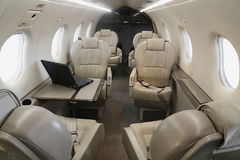 Pilatus PC-12 NG leather interior Royalty Free Stock Photos