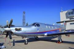 Pilatus PC-12/45 vliegtuigen Royalty-vrije Stock Afbeeldingen
