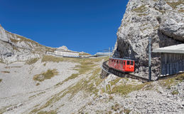 Pilatus Railway train Royalty Free Stock Images
