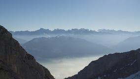 Pilatus snow mountain of Switzerland. Royalty Free Stock Image