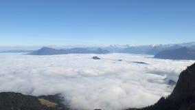 Pilatus snow mountain of Switzerland. Royalty Free Stock Photos