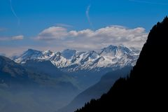 Pilatus in Switzerland, Mount Pilatus. View from Pilatus. Mount Pilatus, is a mountain massif overlooking Lucerne in Central Switzerland. It is composed of royalty free stock image
