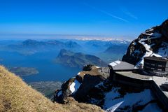 Pilatus in Switzerland, Mount Pilatus royalty free stock photography