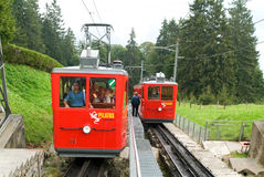 Pilatus train, the world's steepest cogwheel railway Stock Photography
