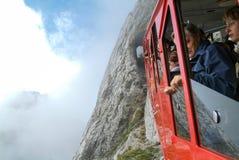 Pilatus train, the world's steepest cogwheel railway Royalty Free Stock Photography