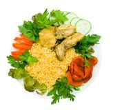 Pilau. Isolated on the white Royalty Free Stock Photos