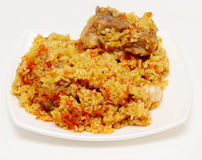 Pilau. Rice pilau on a plate Royalty Free Stock Photo