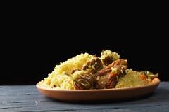 Pilau do arroz na escuridão Fotografia de Stock