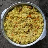 Pilau, het koken, voedsel Royalty-vrije Stock Foto's