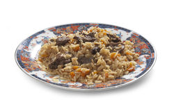 Pilau in plate Stock Photos