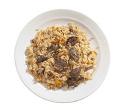 Pilau in the plate Royalty Free Stock Photos
