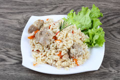 Pilau rice. With meat and carrot Royalty Free Stock Photo