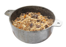 Pilau in stew pan Stock Photography