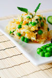 Pilau with vegetables. Close up shot Stock Images