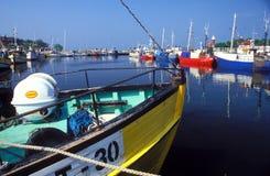 Pilbåge av en fishboat Royaltyfri Bild