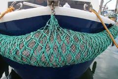 Pilbåge av fiskeskeppet Yerseke Holland Arkivbilder