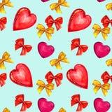 Pilbåge och hjärta, vattenfärg Royaltyfria Bilder