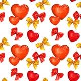 Pilbåge och hjärta, vattenfärg Royaltyfria Foton